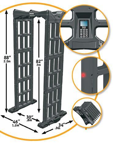 Detector de metales portatil tipo arco de Fisher