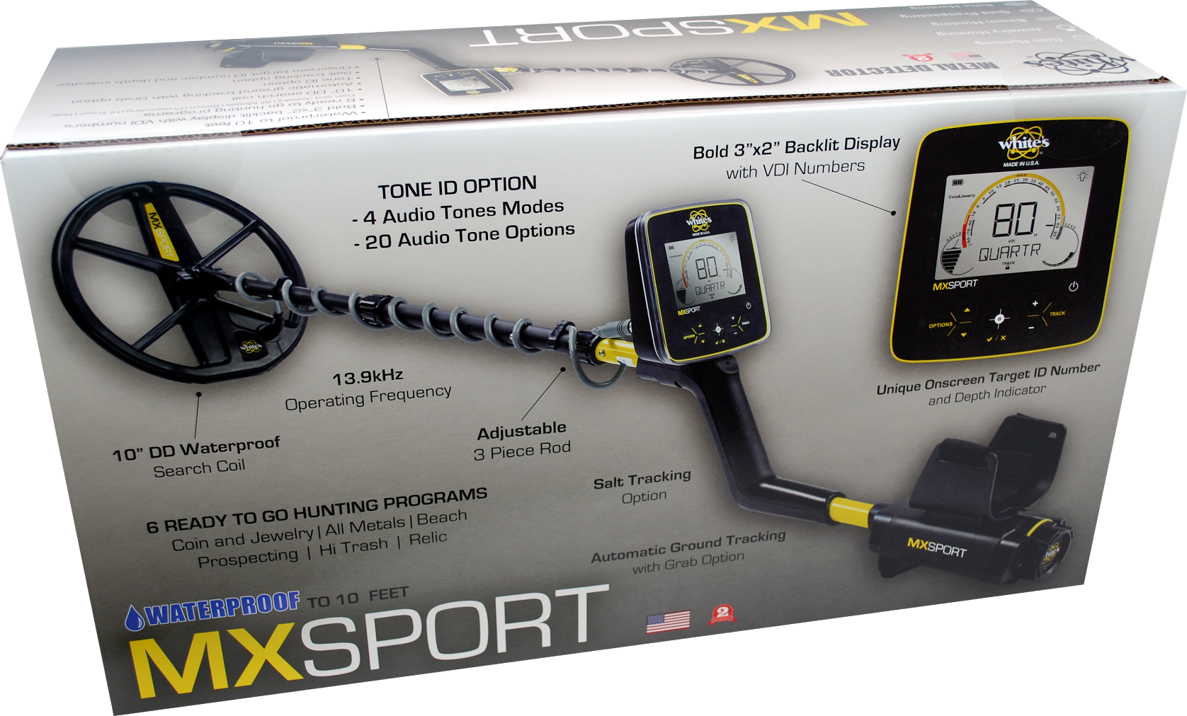 Caja del detector de metales MX Sport de White's