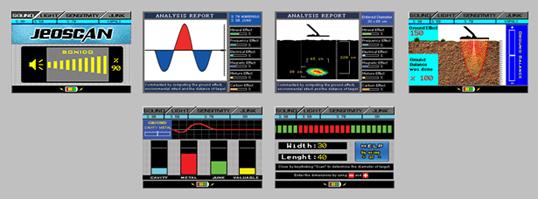 Graficos detector de metales gran profundidad Jeoscan