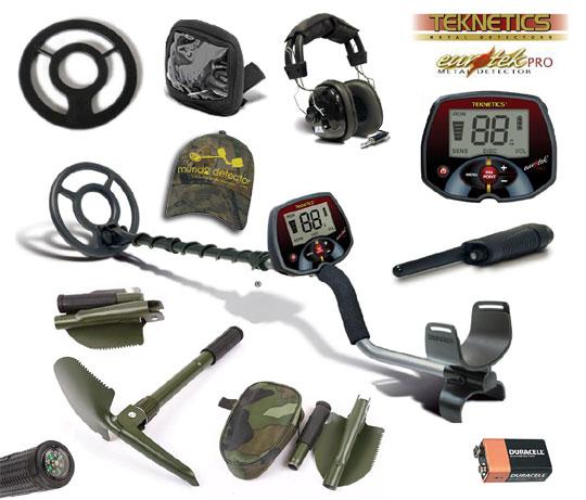 Pack 3 detector de metales Eurotek Pro 8