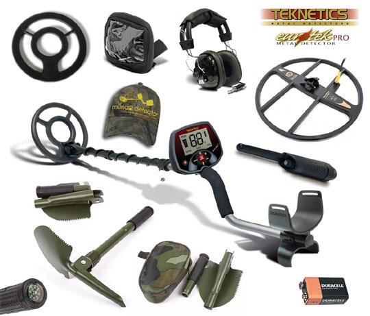 Pack 4 detector de metales Eurotek Pro 8