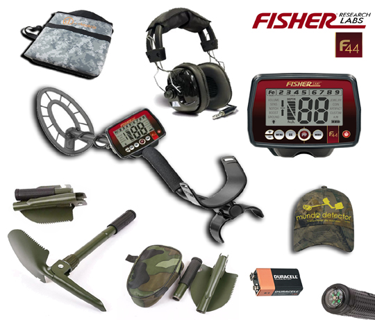 Pack 1 detector de metales Fisher F44