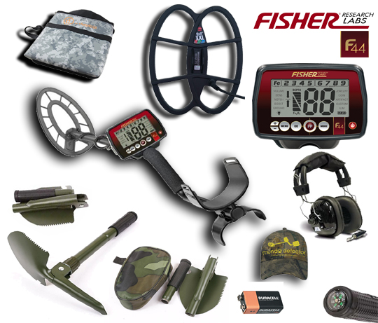 Pack 3 detector de metales Fisher F44
