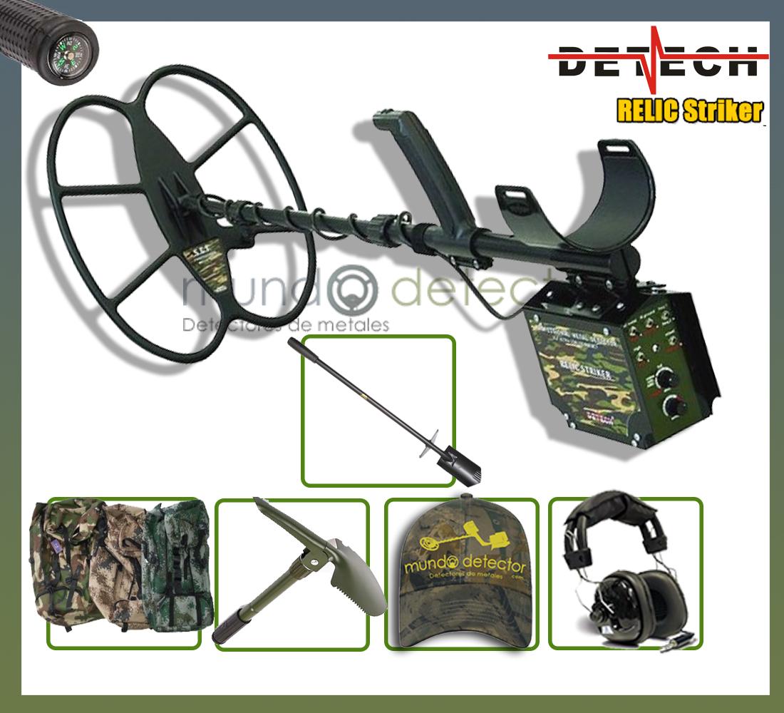 Pack 3 detector de metales Detech Relic Striker