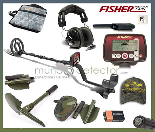 Pack 2 detector de metales Fisher F11