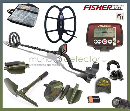 Pack 3 detector de metales Fisher F11