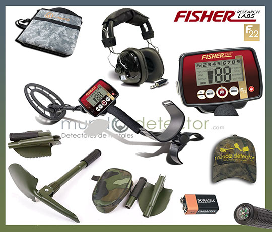 Pack 1 detector de metales Fisher F22