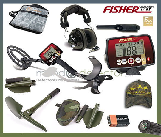 Pack 2 detector de metales Fisher F22
