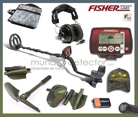 Pack 1 detector de metales Fisher F11