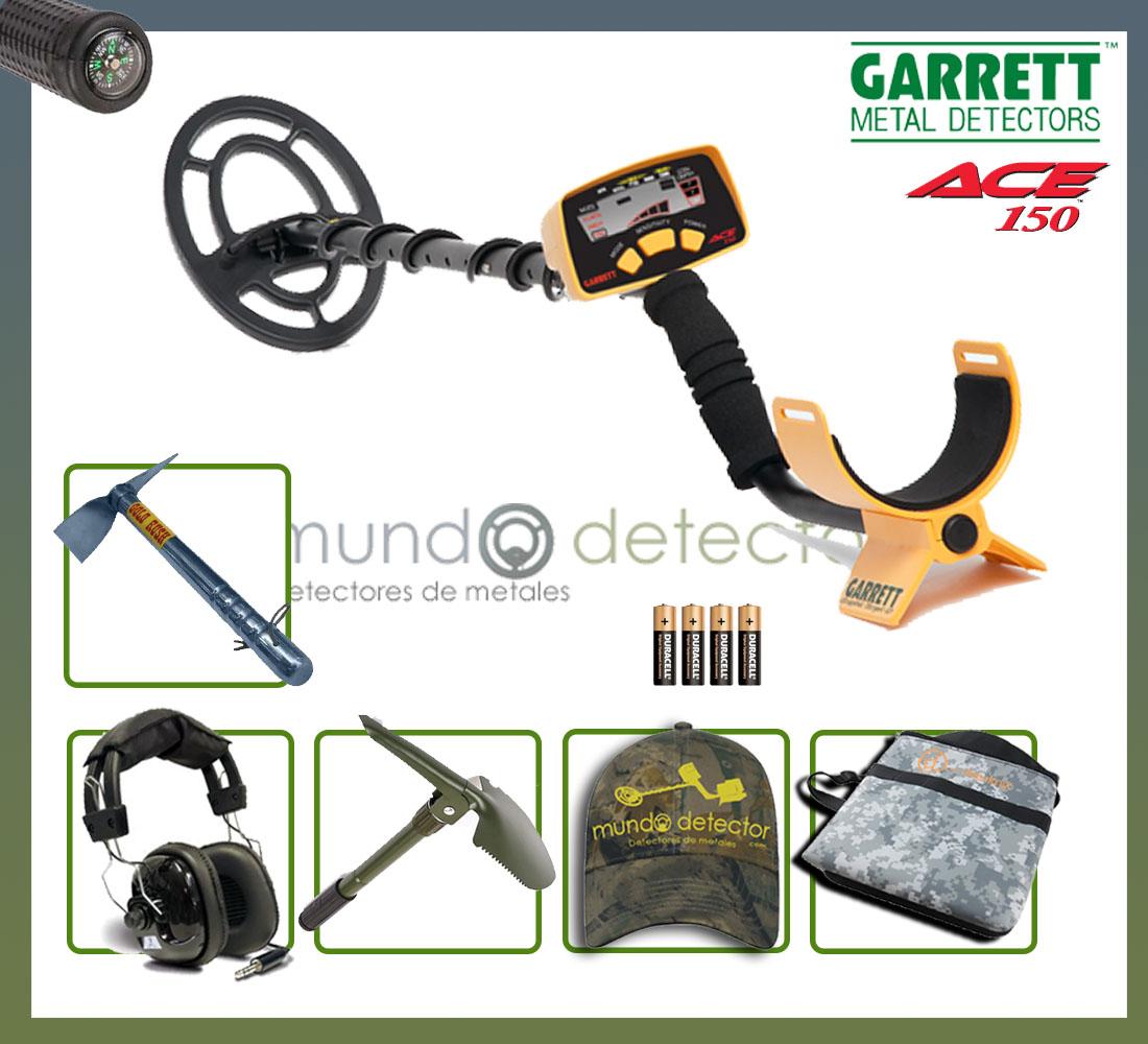 Pack 3 detector de metales Garrett Ace 150