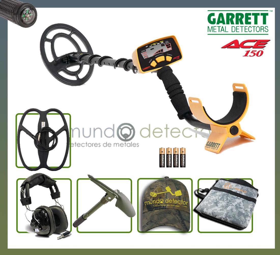 Pack 4 detector de metales Garrett Ace 150