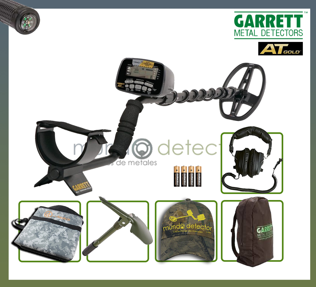 Pack 1 detector de metales At Gold