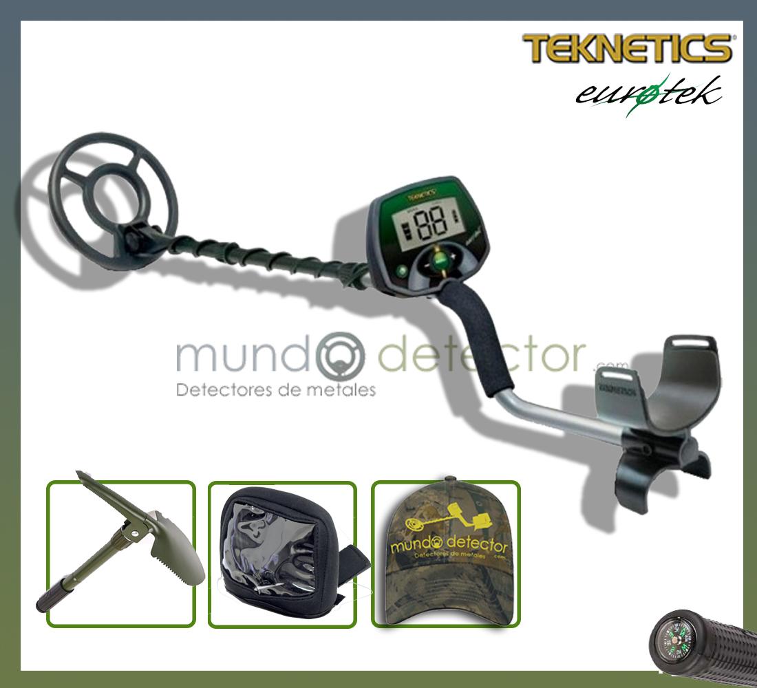 Pack 1 detector de metales Teknetics Eurotek