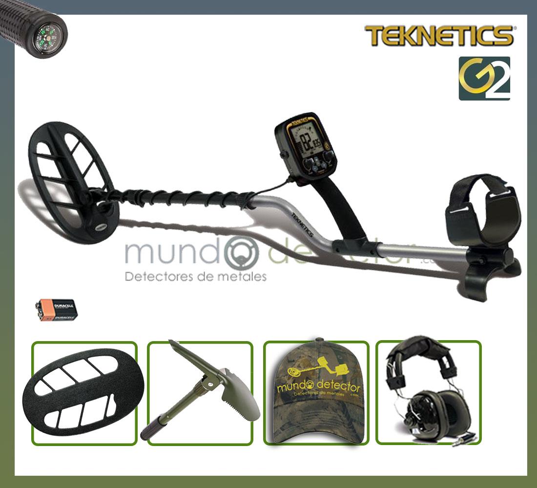 Pack 1 detector de metales Teknetics G2