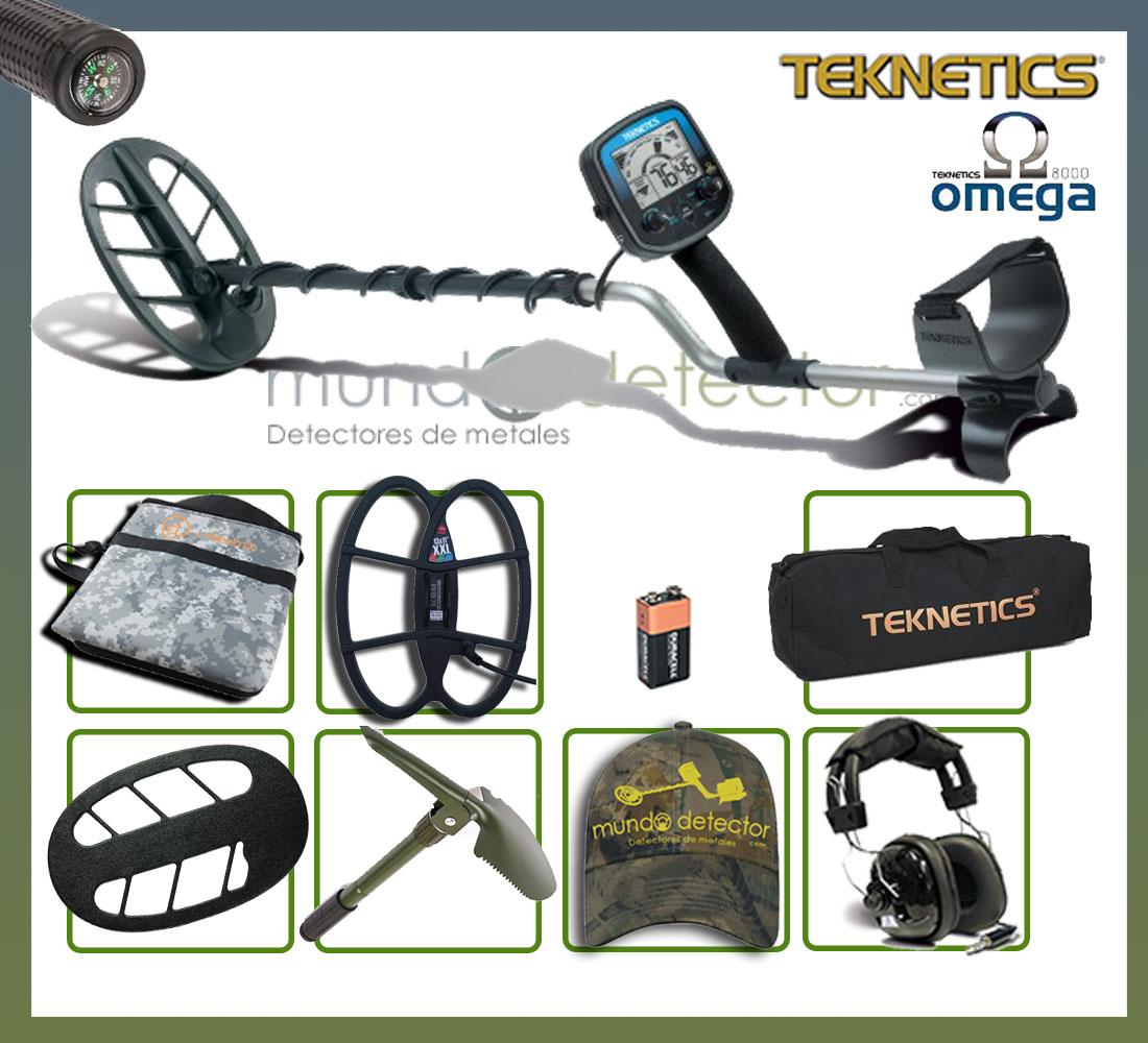 Pack 3 detector de metales Teknetics Omega 8000