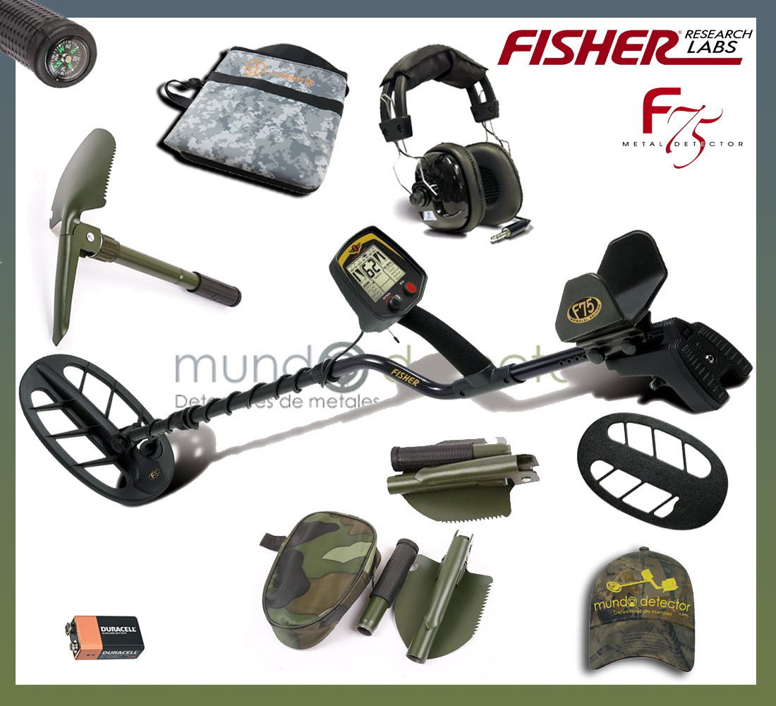 Pack 1 detector de metales Fisher F75