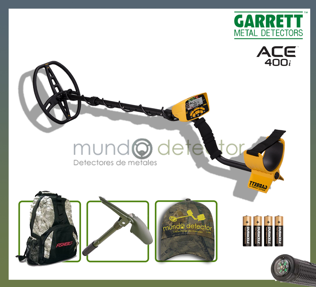 Pack 1 detector de metales Ace 400i