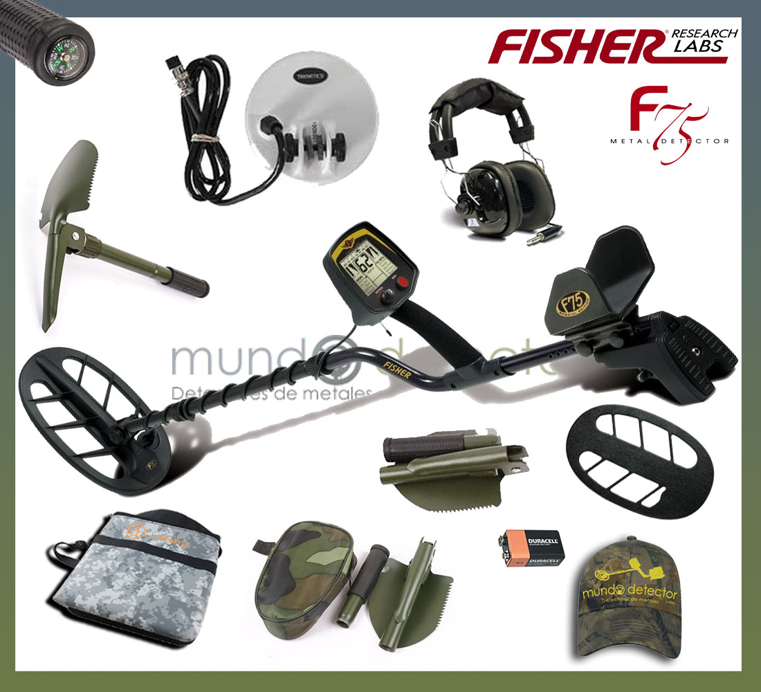 Pack 3 detector de metales Fisher F75