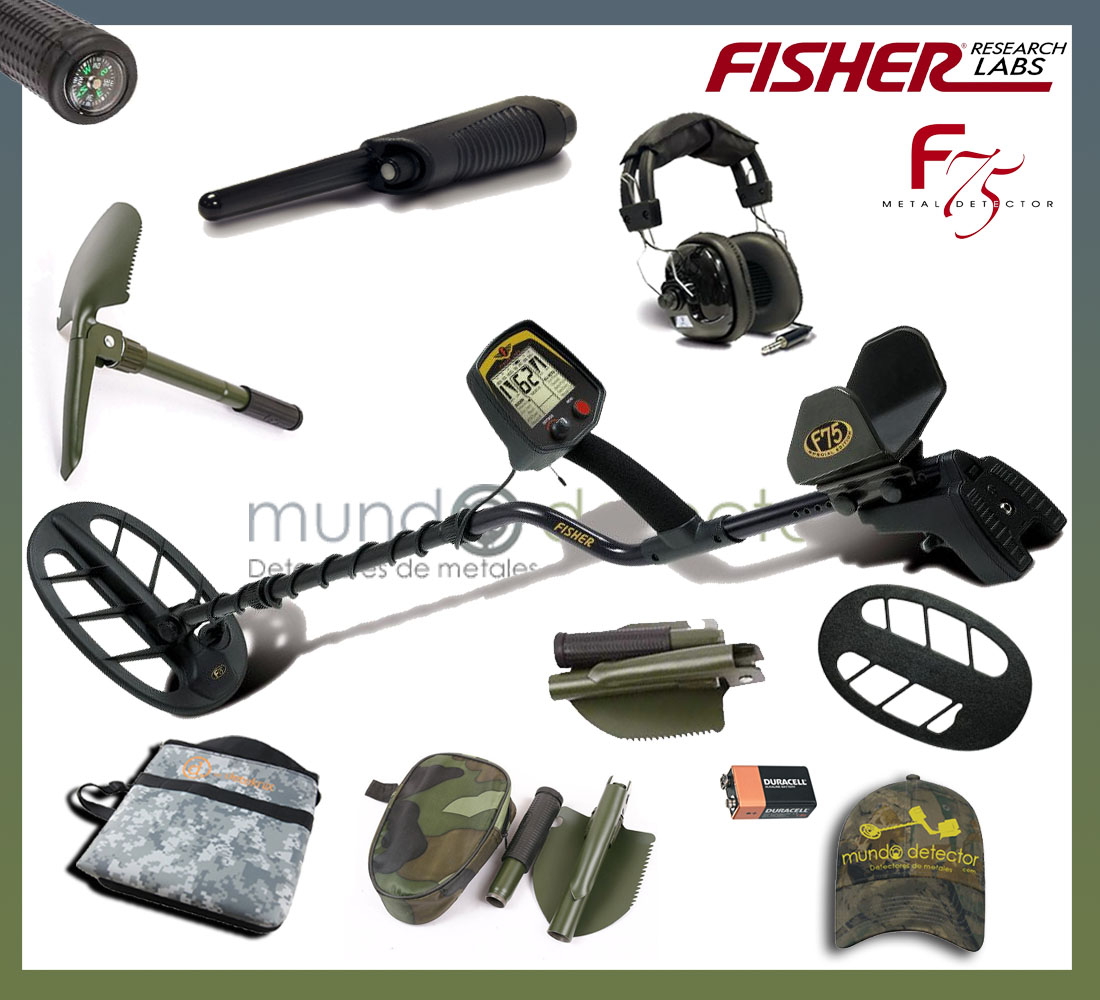 Pack 2 detector de metales Fisher F75