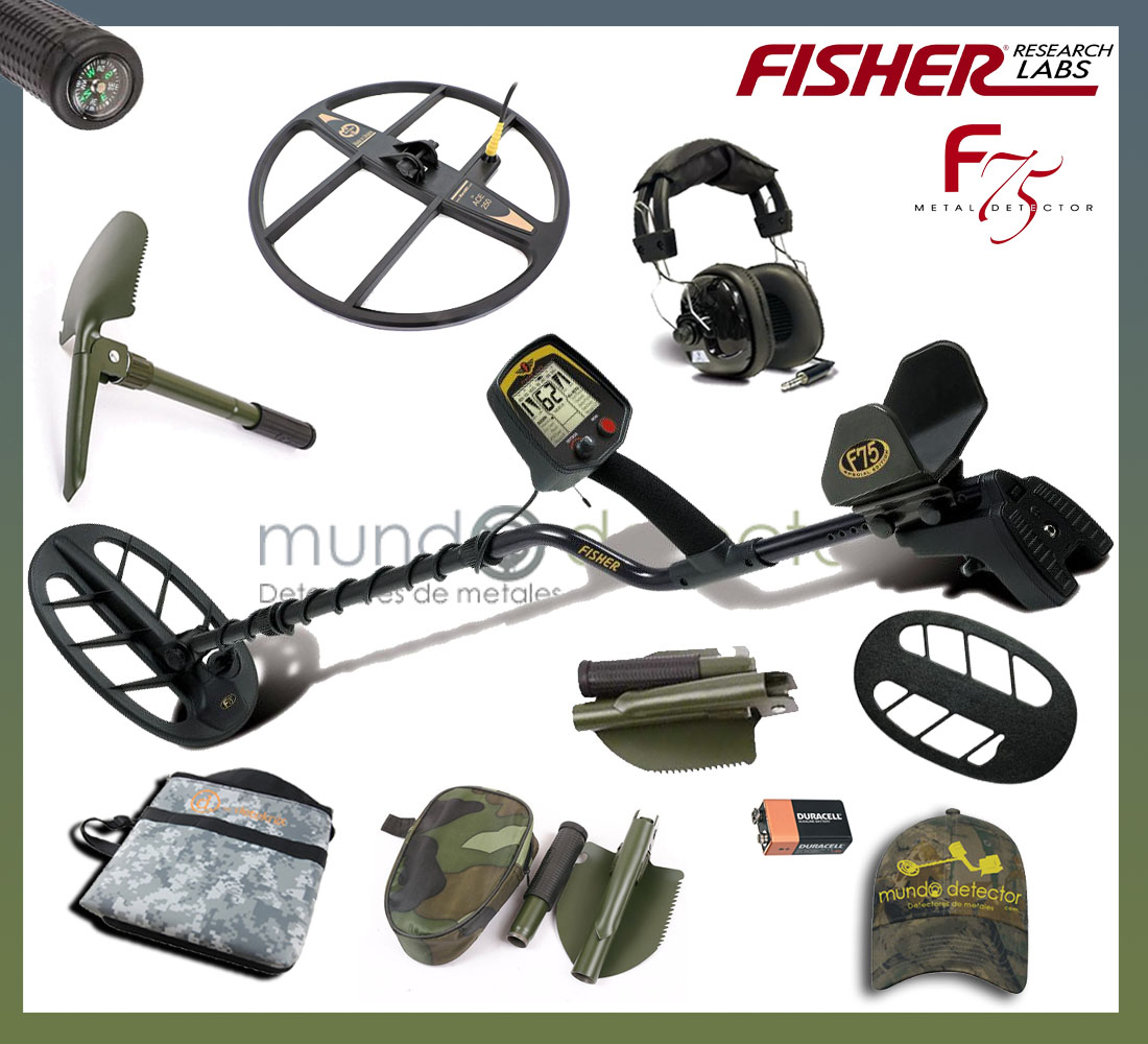 Pack 4 detector de metales Fisher F75