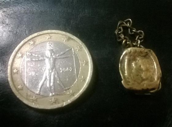 Buho encontrado con detector de metales
