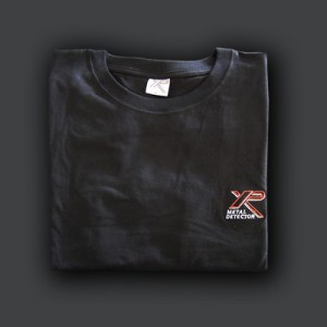 Camiseta negra Xp manga corta en algodón