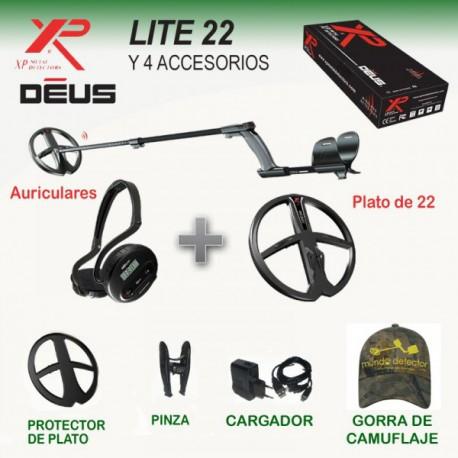 Detector de metales XP Deus LITE con auriculares