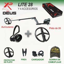 Detector metales XP Deus LITE 28 con auriculares