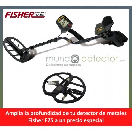 Fisher F75 + plato de gran profundidad