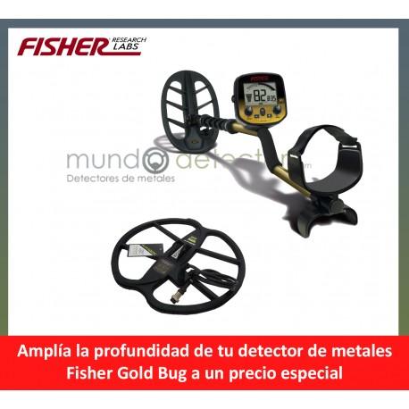 Fisher Gold Bug + plato de gran profundidad