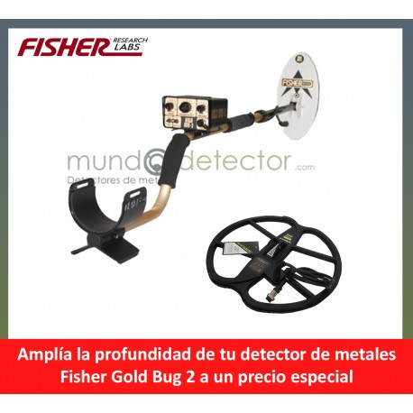 Fisher Gold Bug 2 + plato de gran profundidad